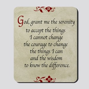 Serenity Prayer-Vintage Mousepad