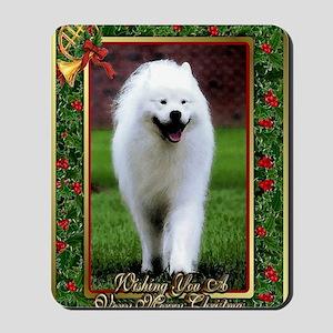 Samoyed Dog Christmas Mousepad