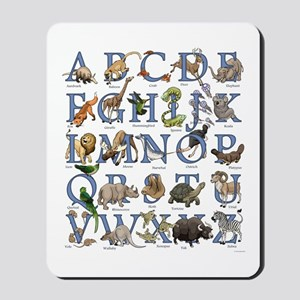 Animal Alphabet Mousepad