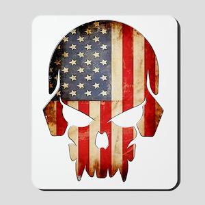 American Flag Skull Mousepad