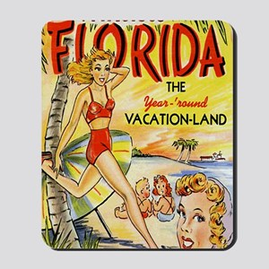 Vintage Florida Vacation Land Mousepad