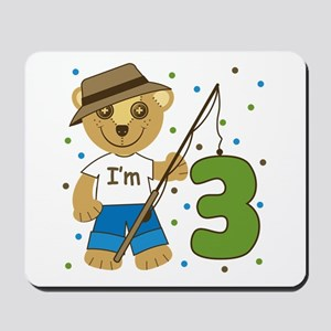 I'm 3 Fishing Bear Mousepad