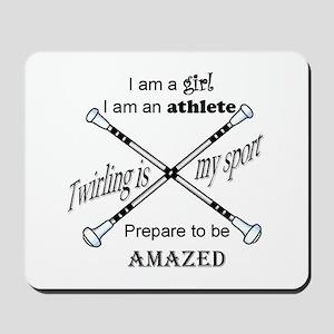 Twirling Athlete Mousepad
