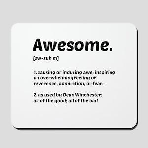 Supernatural: Vital information- Awesome Mousepad