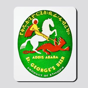 Ethiopia Beer Label 1 Mousepad
