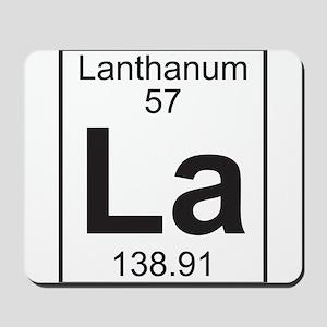 Element 057 - La (lanthanum) - Full Mousepad