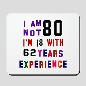 80 Birthday Designs Mousepad