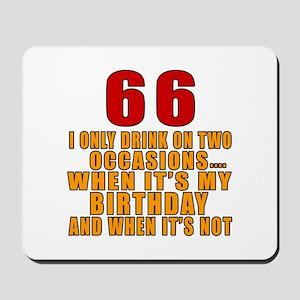 66 Birthday Designs Mousepad