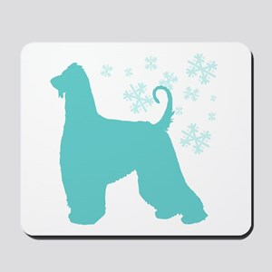 Afghan Hound Snowflake Mousepad