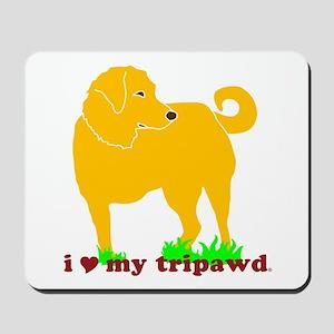 Golden Tripawd Love Mousepad