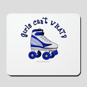 Blue Roller Derby Skate Mousepad