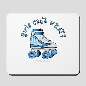 Light Blue Roller Derby Skate Mousepad