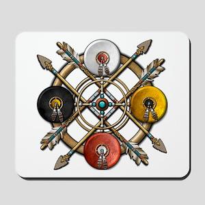 Native Medicine Wheel Mandala Mousepad