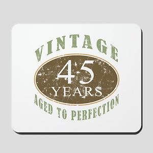 Vintage 45th Birthday Mousepad