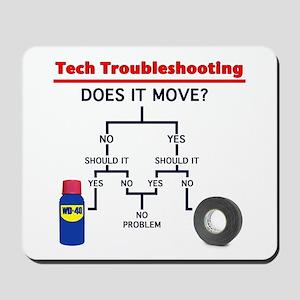 Tech Troubleshooting Flowchart Mousepad