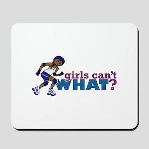 Blue Roller Derby Girl Mousepad