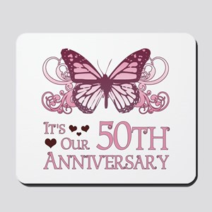 50th Wedding Aniversary (Butterfly) Mousepad