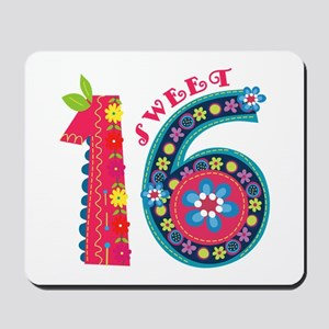 Blooming Sweet 16 Mousepad