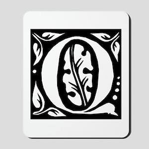 Art Nouveau Initial Q Mousepad