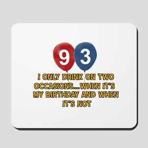 93 year old birthday designs Mousepad