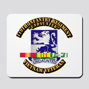 Army - 119th Infantry Regiment w SVC Ribbon Mousep