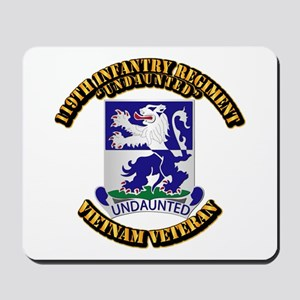 Army - 119th Infantry Regiment Mousepad