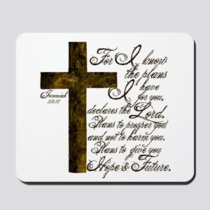 Plan of God Jeremiah 29:11 Mousepad
