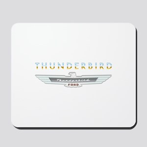 Ford Thunderbird Emblem Orange Chrome Mousepad