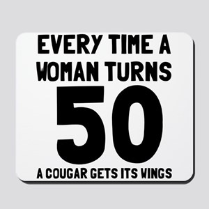 A cougar gets its wings Mousepad