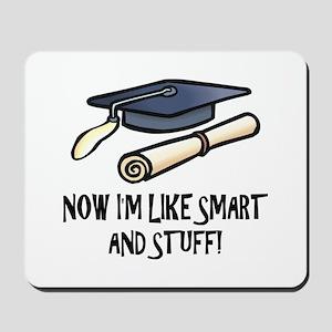 Smart Funny Grad Mousepad