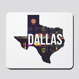 Dallas Texas Silhouette Mousepad