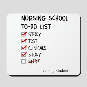 Nursing Student To-Do List Mousepad