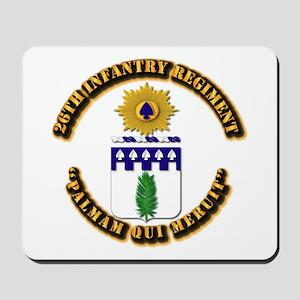 COA - 26th Infantry Regiment Mousepad