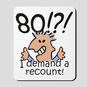 Recount 80th Birthday Mousepad