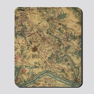 Vintage Antietam Battlefield Map (1862) Mousepad