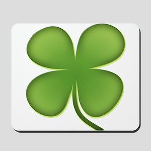 Lucky Irish Four Leaf Clover Mousepad