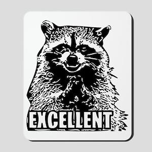 Excellent Raccoon Mousepad