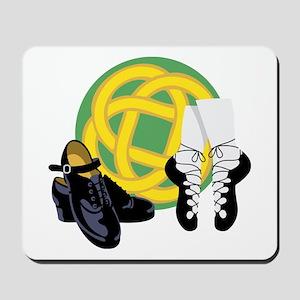 Celtic Knot Irish Shoes Mousepad