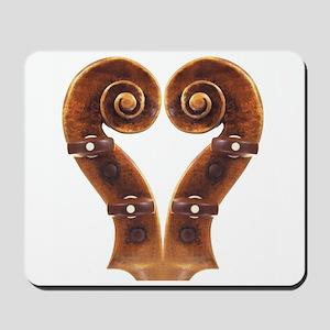 Violin Scroll Heart Mousepad