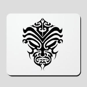 maori warrior face Mousepad