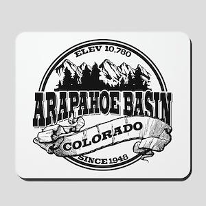 A-Basin Old Circle Black Mousepad