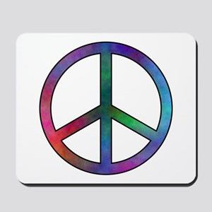 Multicolor Peace Sign Mousepad