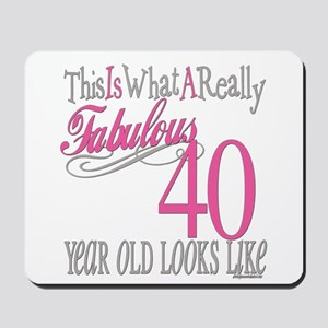 40th Birthday Gifts Mousepad