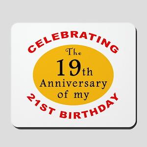Celebrating 40th Birthday Mousepad