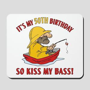 Fishing Gag Gift For 50th Birthday Mousepad