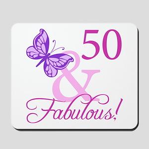 50 & Fabulous (Plumb) Mousepad
