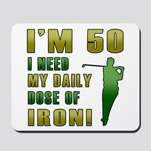 50th Birthday Golf Humor Mousepad