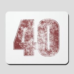 40th Birthday Red Grunge Mousepad