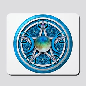Blue Triple Goddess Pentacle Mousepad