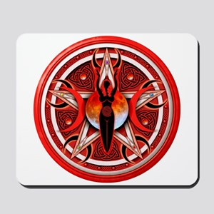 Pentacle of the Red Goddess Mousepad